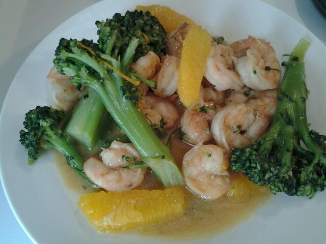 Shrimp & Broccoli w/Riesling Sauce